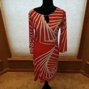 Coral/Orange Tunic Dress